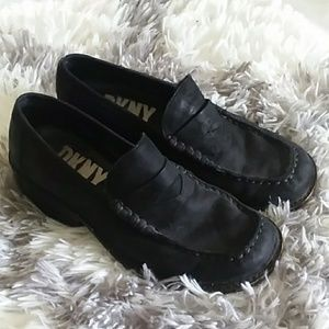 DNKY Black Suede Loafers
